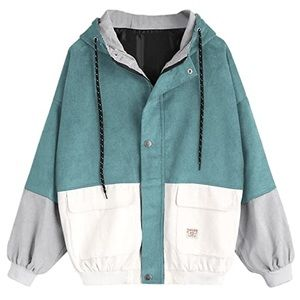 Zaful Corduroy Color Block Jacket